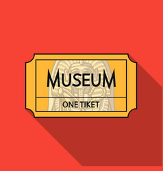 ticket to the museum icon in flat style isolated vector image vector image