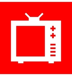 TV sign vector image vector image
