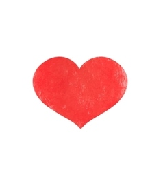 Watercolor red heart for valentine s day vector