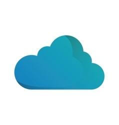 Cloud blue sky shape icon vector