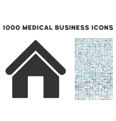 Home icon with 1000 medical business pictograms vector