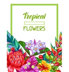 Invitation card with thailand flowers tropical vector