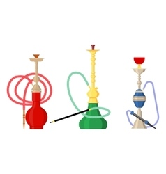 Pipe smoke or hookah for turkish tobacco vector