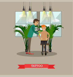 Tattoo concept in flat style vector