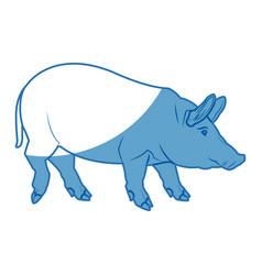cute pig cartoon animal farm image vector image