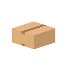 closed carton cardboard box vector image