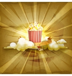 Popcorn old style background vector