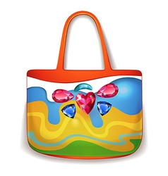 Lady summer holiday hand bag vector
