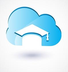cloud education vector image