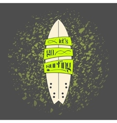 Surfboard in dark cartoon graffiti design vector