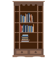 Bookcase vector
