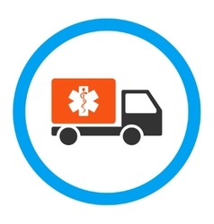 Medical shipment rounded icon vector