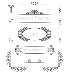 Frame and decor vector