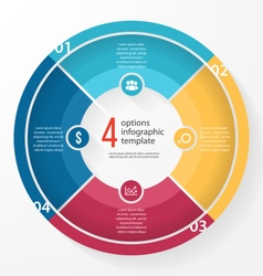 Pie chart circle infographic template vector
