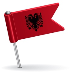 Albanian pin icon flag vector
