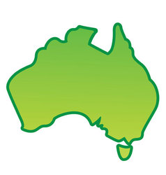 Australia map simplified vector image vector image