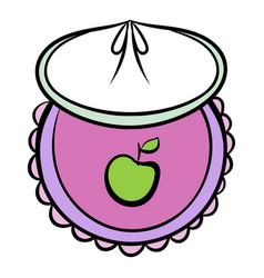 Baby bib icon cartoon vector