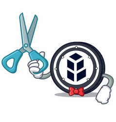 Barber bancor coin character cartoon vector