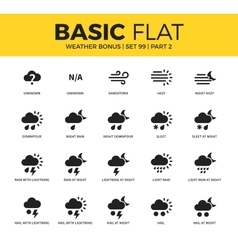 Basic set of weather bonus icons vector