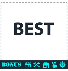 Best lettering text icon flat vector
