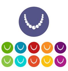 Brilliant gemstone icons set flat vector