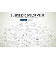 Business development concept wih doodle design vector