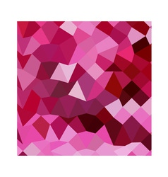 Cerise pink abstract low polygon background vector