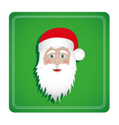 Colorful square frame with christmas santa claus vector