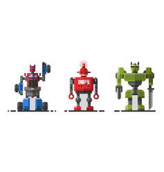 cute vintage robot technology machine future vector image vector image