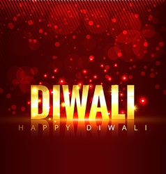 diwali text background vector image