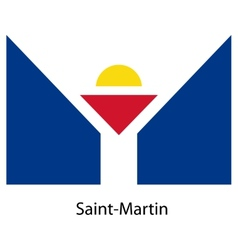 Flag of the country saint martin vector