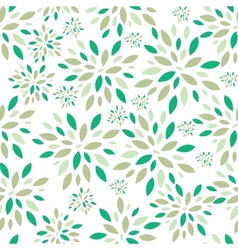 Flower leaves seamless pattern background vector