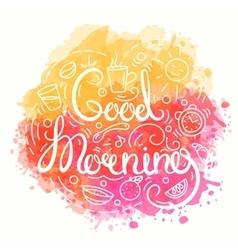 Good morning typography design vector