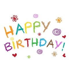 Happy Birthday Greeting Card - vector image