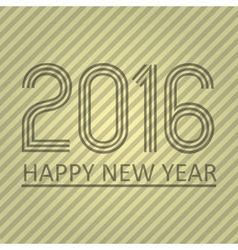 happy new year 2016 on the striped paper vector image