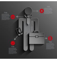 infographic businessman background design Eps10 vector image