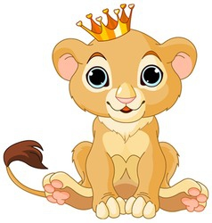 Lion king cub vector