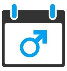 Mars male symbol calendar day toolbar icon vector
