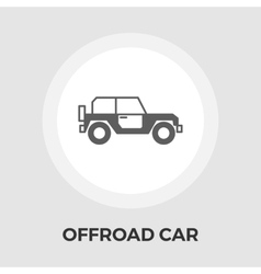 Offroad car flat icon vector image vector image