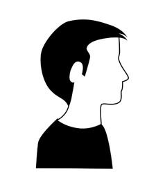 profile silhouette person icon design vector image