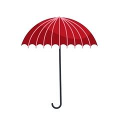 Red umbrella icon vector