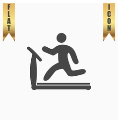Running treadmill flat icon vector