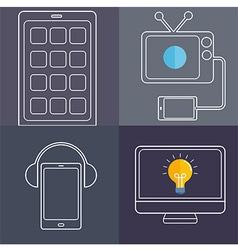 ScreenLife Line art vector image