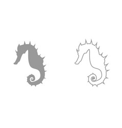 seahorse it is black icon vector image