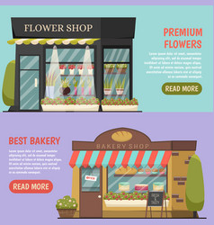Shops banners set vector