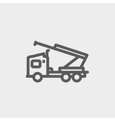Towing truck thin line icon vector