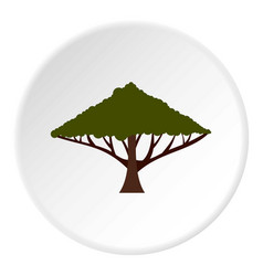 tree with large crown icon circle vector image vector image
