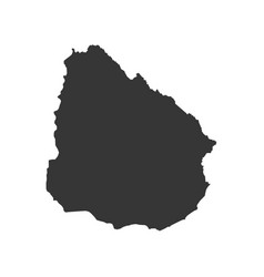 Uruguay map silhouette vector