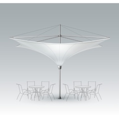 White Blank Inversed Outdoor Beach Cafe Umbrella vector image vector image