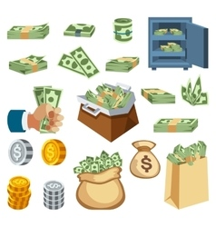 Money symbols icons vector